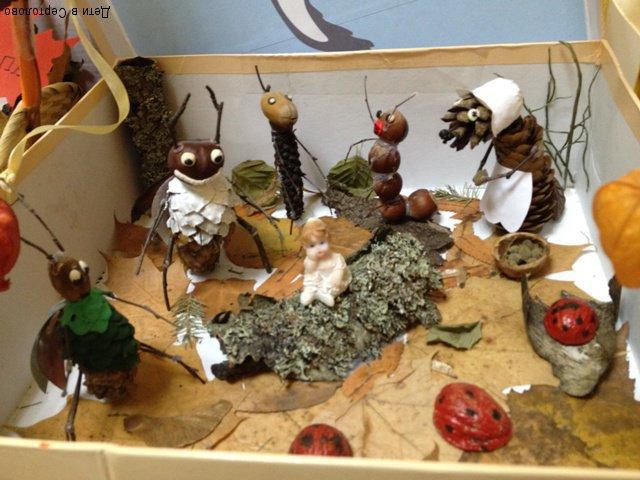 Идеи поделок из природного материала Дети в Сертолово