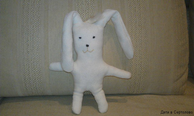 Игрушка зайца своими руками 42