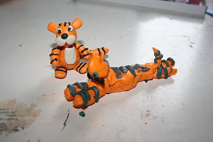 лепим тигра