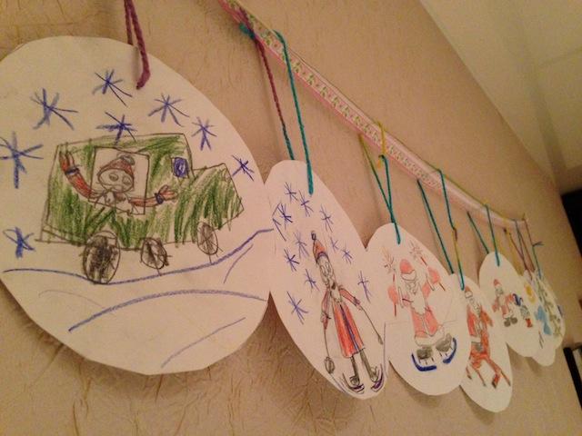 рисунки, дед мороз, новый год