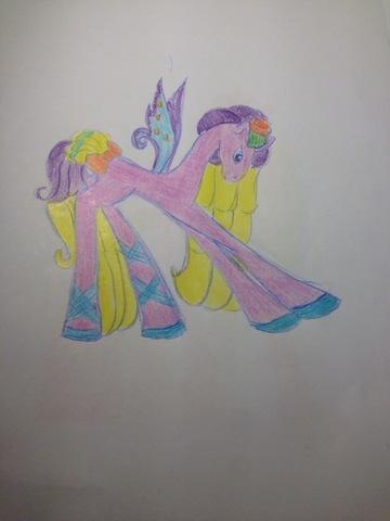 срисовать пони